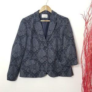Jessica | Jacquard Patterned Jacket Blazer Sz 16